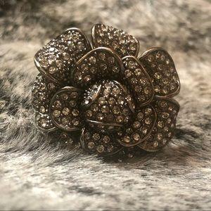 Jewelry - Hematite & Rhinestone Cocktail Ring